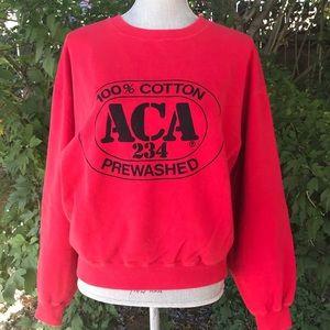 Vintage 80's ACA 234 Red Oversized Sweatshirt S